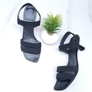 Stuart Weitzman Black Open Toe Strap Sandals Heels